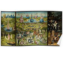 The Garden of Earthly Delights by Hieronymus Bosch (1480-1505) Poster