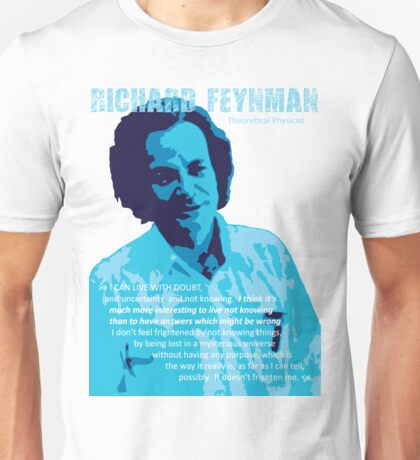 Richard P. Feynman, Theoretical Physicist (Blue) Unisex T-Shirt