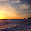 Prince Edward Island Winter Sunset by Nadine Staaf