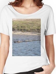 Alligator in the Water Women's Relaxed Fit T-Shirt