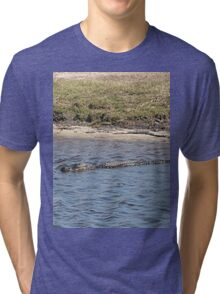 Alligator in the Water Tri-blend T-Shirt