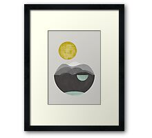 Dunes, geometric art Framed Print