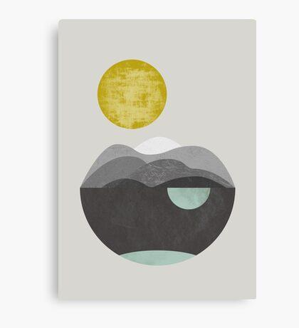 Dunes, geometric art Canvas Print