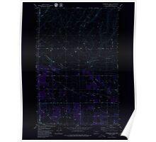 USGS Topo Map Washington State WA Sagebrush Ridge 243559 1979 24000 Inverted Poster