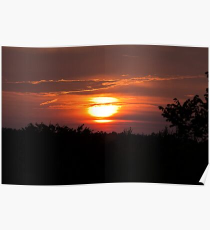 Sunset Long Sault Parkway Poster
