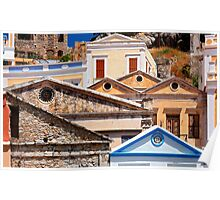 Circles and triangles  - Symi island Poster