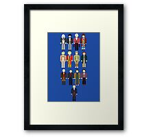 Doctor Who Minimalist Framed Print