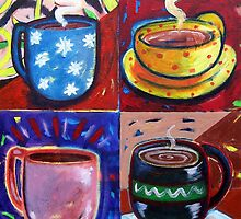 '4 Coffee Cups' by Jerry Kirk