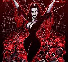 Vampira Spider web gothic by Scott Jackson