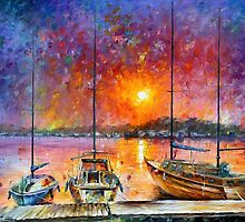 SHIPS OF FREEDOM - LEONID AFREMOV by Leonid  Afremov