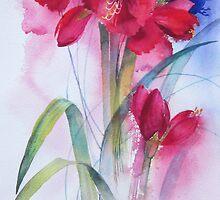 Red Amaryllis by artbyrachel
