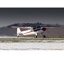 Luscombe on a snowy runway Photographic Print