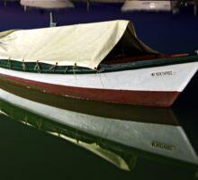 Fishing boat at Lefkada island Sticker
