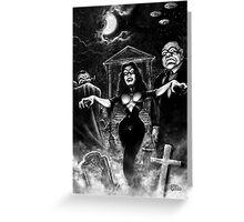 Vampira Plan 9 zombies Greeting Card