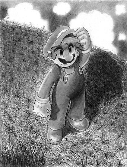 Mario Drawing by SaradaBoru