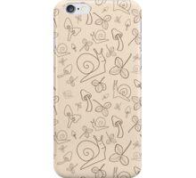 Beige snails iPhone Case/Skin