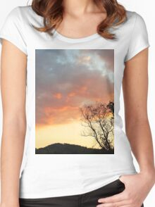 Red Sky at Night Women's Fitted Scoop T-Shirt