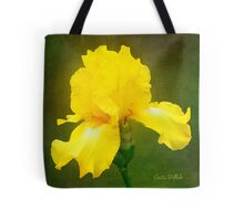 Painted Yellow Iris Tote Bag