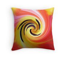 Tulip abstract art Throw Pillow