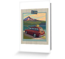 Vintage Squareback at Trillium Lake Greeting Card