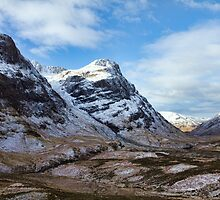 Winter Mountains of Glencoe by derekbeattie