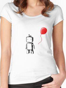 Robot Balloon Women's Fitted Scoop T-Shirt