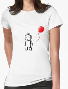 Robot Balloon Womens Fitted T-Shirt
