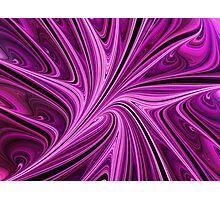 Raspberry Swirl Splash Photographic Print