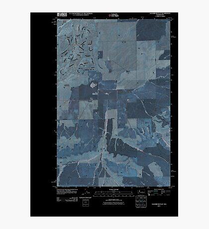 USGS Topo Map Washington State WA Sagebrush Flat 20110425 TM Inverted Photographic Print