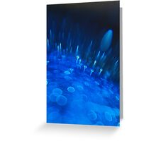 Blue Bokeh Greeting Card