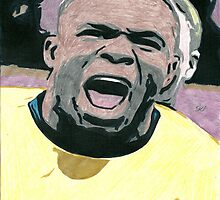 Victor Anichebe Everton Comic Book Style Image by chrisjh2210