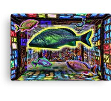 Fish in Stain Glass Canvas Print