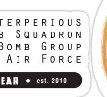Asterperious - 319th SQ - 90th BG - 5th AF Emblem (Black) Sticker