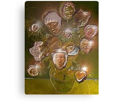 Vincent's Sunflowers by Moonlight. Canvas Print