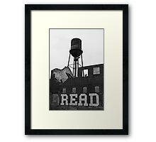 read up!!! Framed Print