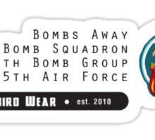 Bombs Away - 321st SQ - 90th BG - 5th AF Emblem (Black) Sticker