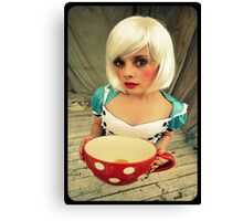 Alice will take tea Canvas Print