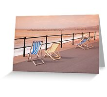 Deck Chairs on Sidmouth Esplanade Greeting Card