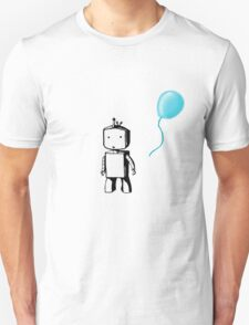 Robot Balloon - Blue T-Shirt