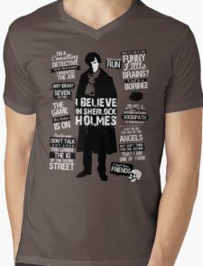 Detective Quotes Mens V-Neck T-Shirt