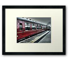 """""""Hogwarts Express"""" in the rain @ Mallaig, Scotland Framed Print"""