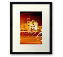 Mariachis Plaza Framed Print