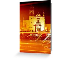 Mariachis Plaza Greeting Card