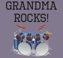 Grandma Rocks Drums Kids Tee