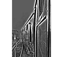 Hogwarts Carriage & Steam in Black & White Photographic Print