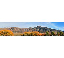 Blazing Fall Color and Mountains Photographic Print
