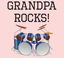Grandpa Rocks Drums One Piece - Long Sleeve