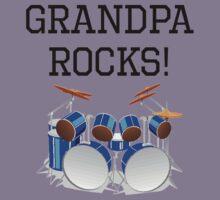Grandpa Rocks Drums Kids Tee