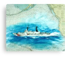 USCGC SHERMAN CA Nautical Chart Map Cathy Peek Canvas Print