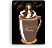 Coffee Cuties Caramel Creme Canvas Print
